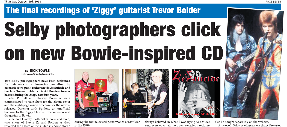 SELBY PHOTOGRAPHERS CLICK ON NEW BOWIE-INSPIRED CD