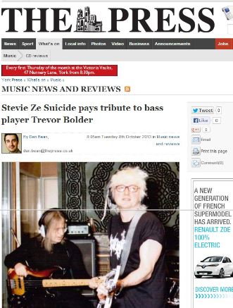 STEVIE ZESUICIDE PAYS TRIBUTE TO BASS PLAYER TREVOR BOLDER
